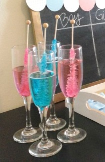 pink blue champagne
