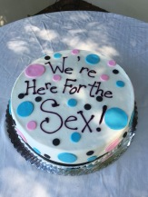 We're here cake